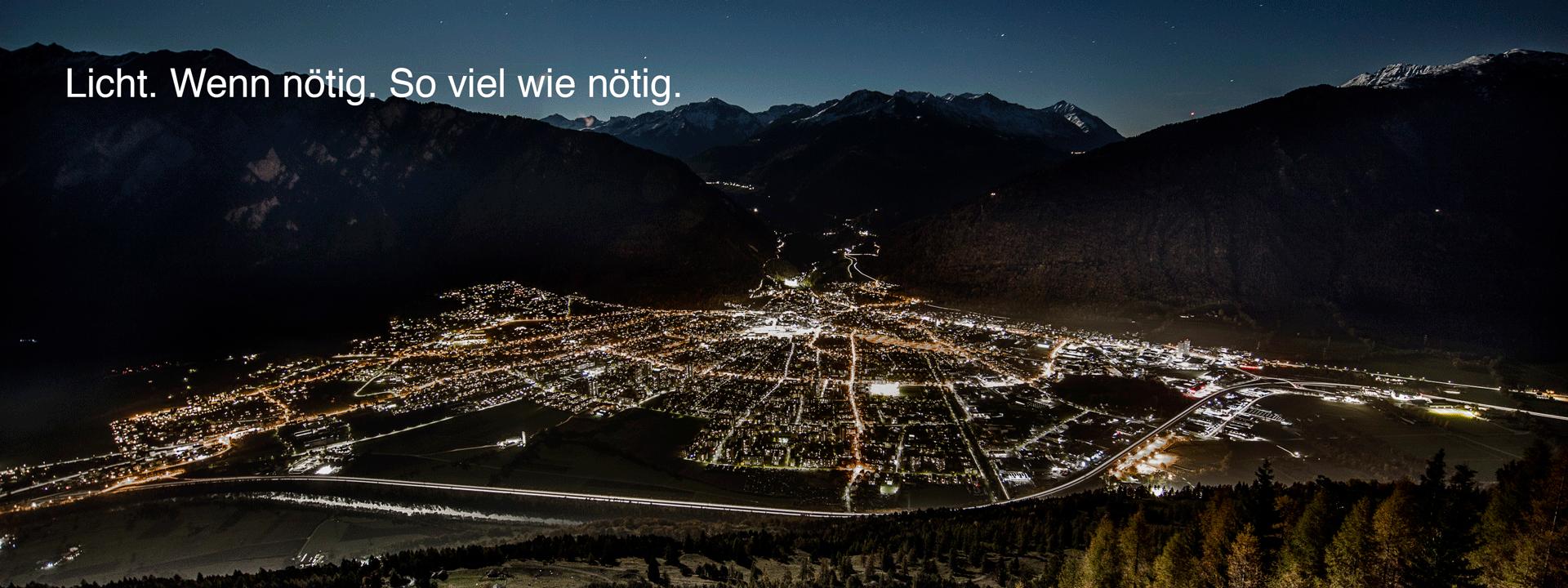 Intelligentes Beleuchtung für die Stadt Chur