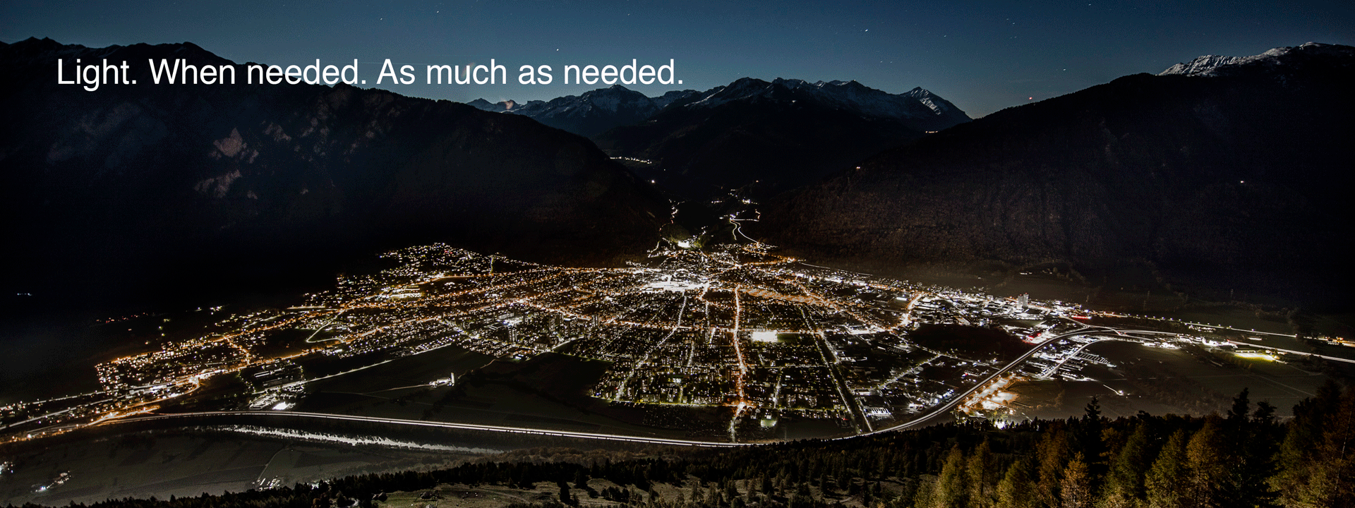 Intelligent street lighting for the city of Chur